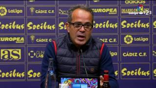 Rueda de prensa de Álvaro Cervera tras el Cádiz CF vs CD Mirandés (2-1)