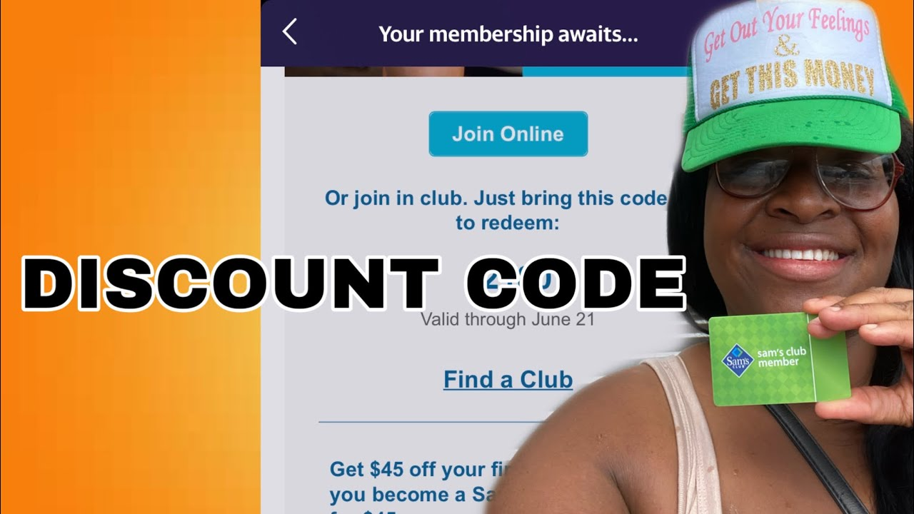 What Is The Discount Code For The Free Sam S Club Membership Card And How Do You Get It Youtube
