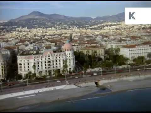 French Riviera Aerials, Nice, Monte Carlo, 1970s/ 1980s Archive Footage