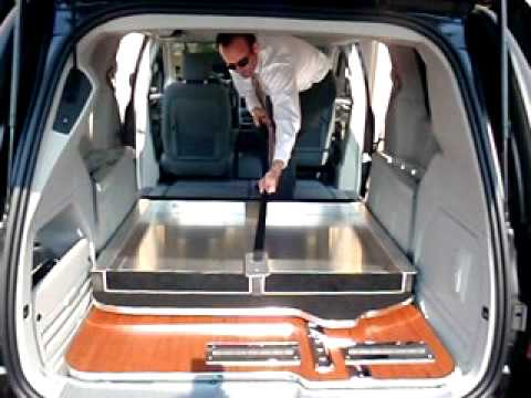 funeral van foldable table stow n go unfold youtube. Black Bedroom Furniture Sets. Home Design Ideas