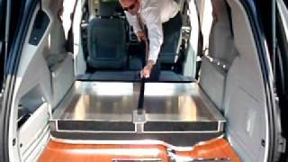Funeral Van - Foldable Table & Stow-n-go...unfold
