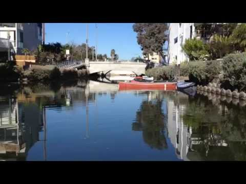 Venice Canal Historic District, Los Angeles California - Canoe Tour