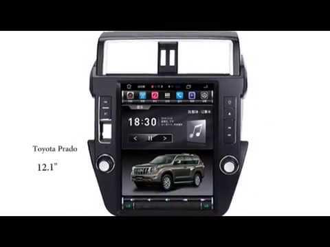 AutoChose Toyota Prado Tesla Style Vertical Touchscreen 14-17 Model, Large GPS Navigation