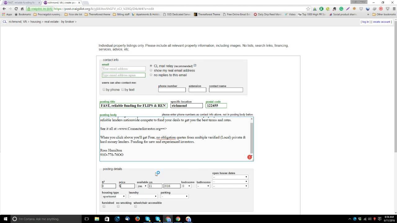 Craigslist URL and Phone masking Tips