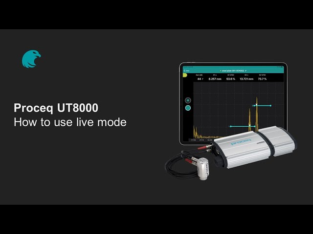 How to use the live mode | Proceq UT8000