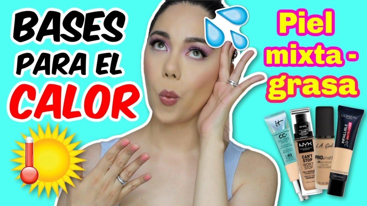 BASES PARA EL CALOR 💦  PIEL GRASA Y MIXTA | MARIEBELLE COSMETICS