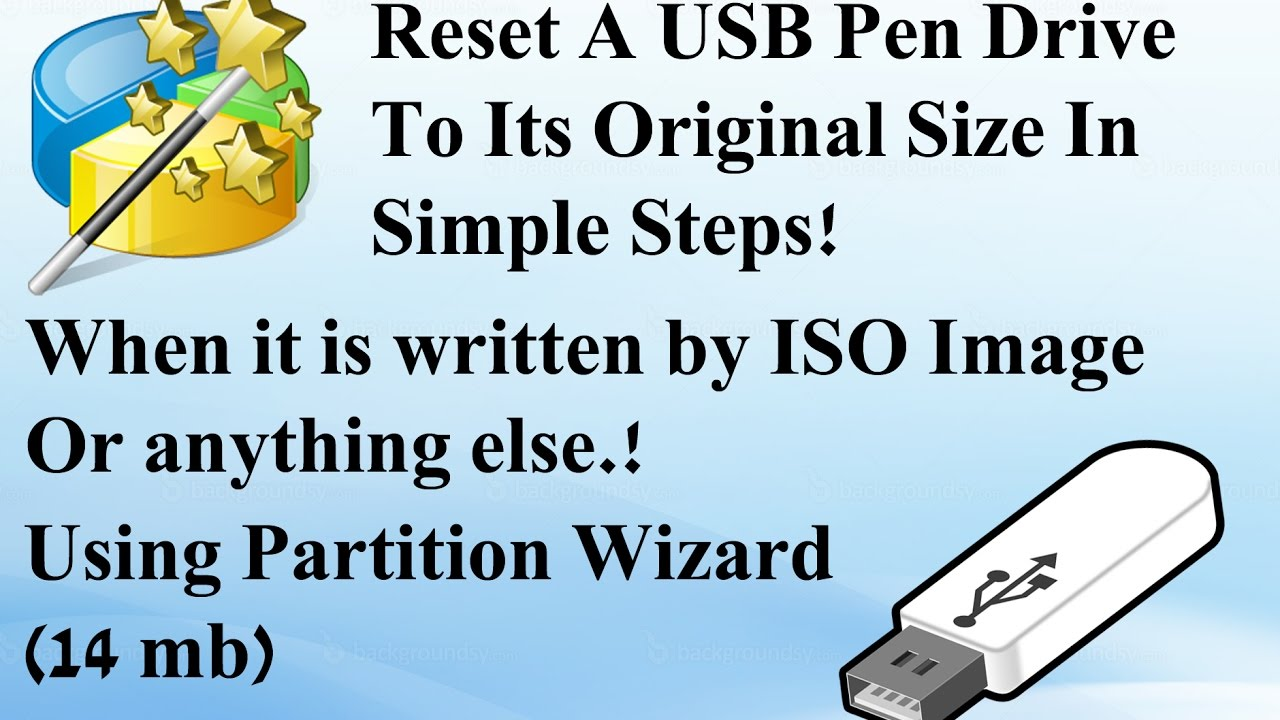 how to hard reset a usb flash drive