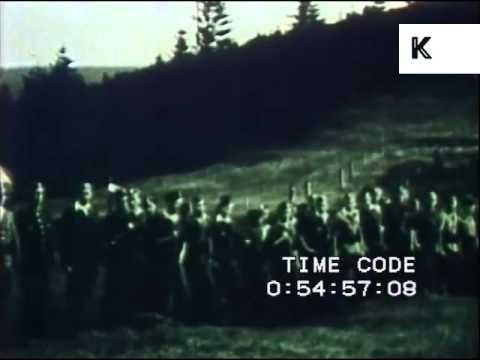 WWII Poland, Armia Krajowa Exercises, 1944 Rare Amateur Footage, Polish Resistance
