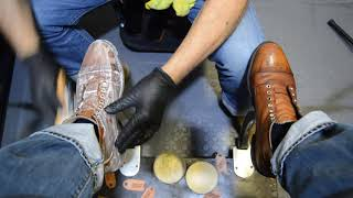 RAGS TO RICHES BOOT TRANSFORMATION | ANGELO SHOE SHINE ASMR