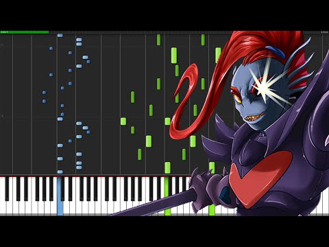 Battle Against a True Hero - Undertale [Piano Tutorial] (Synthesia)
