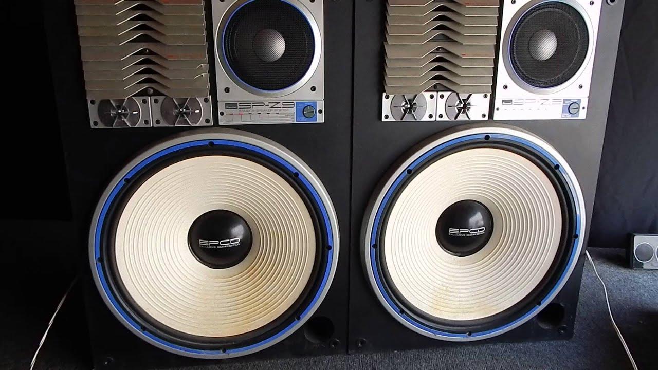 sansui sp z9 5 way 6 speaker speakers vid 2 youtube rh youtube com