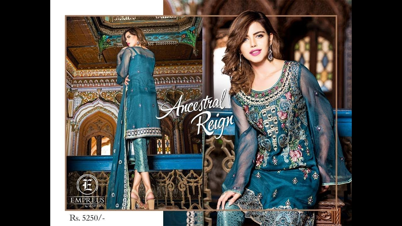 82be0e3a10 Maryam's Empreus Luxury Chiffon Collection 2018 With Price Vol 3 ...