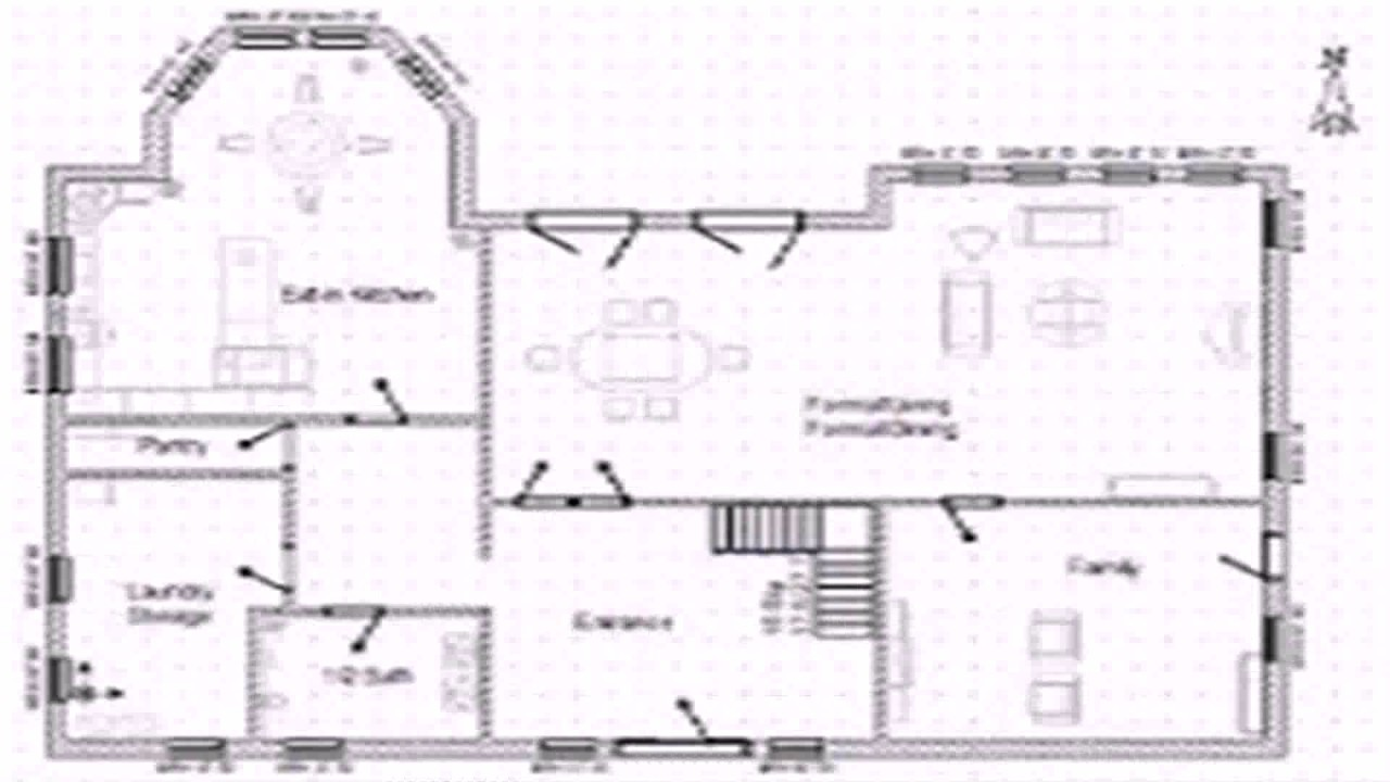 Floor plan window dimensions youtube for Blueprint of a house with measurements