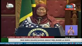 VIDEO: President Samia used light moments to capture Kenya MPs' attention