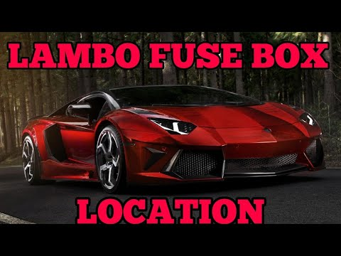 lamborghini fuse box location all modles covered. - youtube  youtube