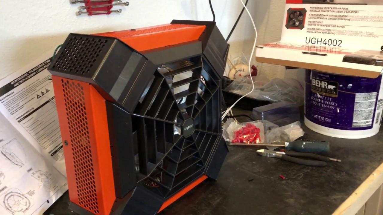 Ceiling Mounted Electric Garage Heater- Uniwatt UGH4002 stelpro