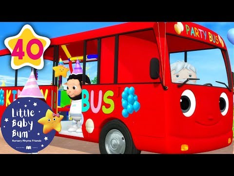 Party Bus | Party on The Bus +More Nursery Rhymes & Kids Songs | Little Baby Bum