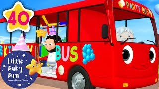 Party Bus | Party on The Bus +More Nursery Rhymes & Kids Songs | Learn with Little Baby Bum