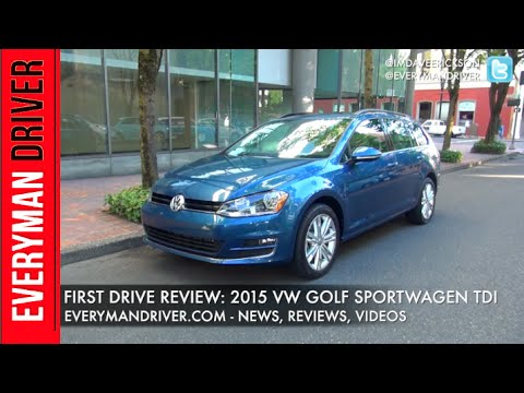 Here's the 2015 VW Golf Sportwagon TDI on Everyman Driver