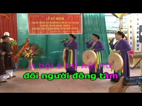 Karaoke Trầu Cau Quan Họ( HD)