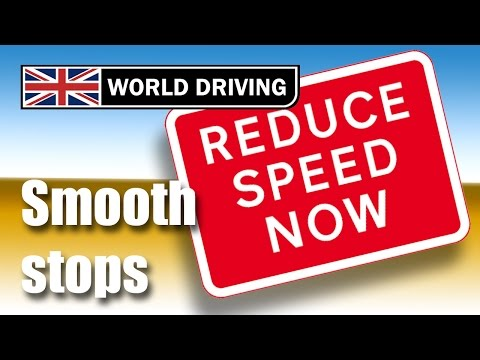 How to stop a car smoothly. Learning to drive tips - driving lessons