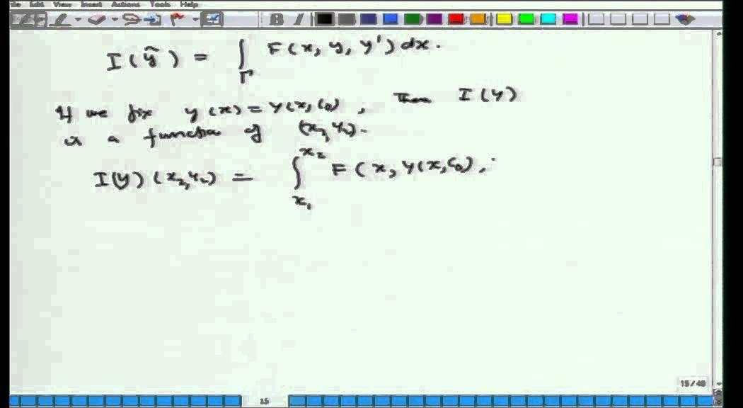 Mod-01 Lec-18 Calculus of Variations and Integral Equations