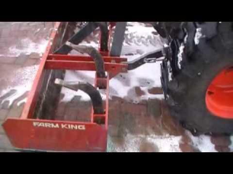 Kubota Tractor With Box Scraper Blade YouTube