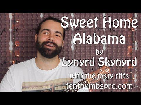 Sweet Home Alabama - Lynyrd Skynyrd Ukulele Tutorial with Tasty Riffs