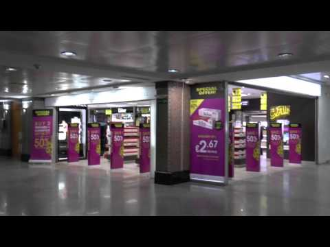 Duty Free and Departures area at Marrakech Menara International Airport, Morocco