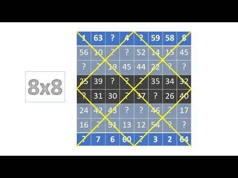 Magic Square Tutorial 8x8 Part 6 1 - YouTube