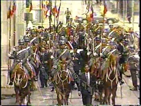 Presidente Ricardo Lagos:Traslado hacia el Tedeum 18 de Septiembre 2002