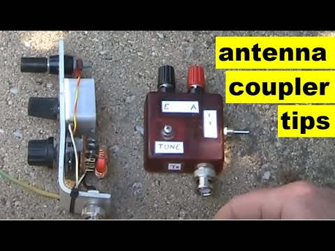 About QRP L match antenna couplers with small variable capacitors