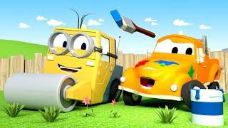 Стив миньон - Малярная Мастерская Тома в Автомобильный Город 🎨 детский мультфильм