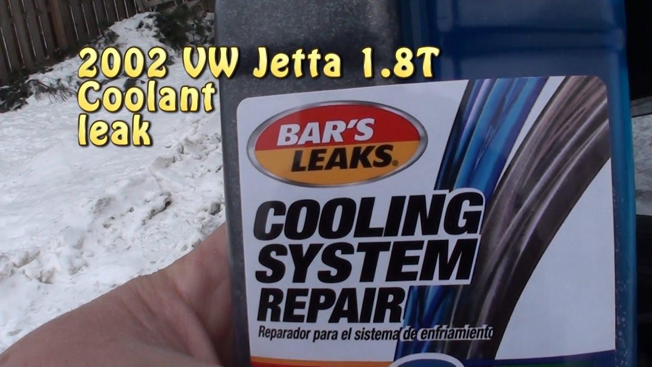 BAR'S LEAKS 2 part Coolant System Repair  VW Jetta 1 8T