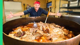 Boiling 600 Pounds of Pig Parts in Louisiana!! RARE Cajun American Food!!!