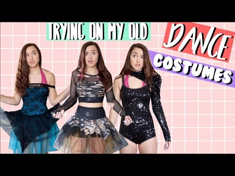 TRYING ON MY OLD DANCE COSTUMES! | Mandi Grace