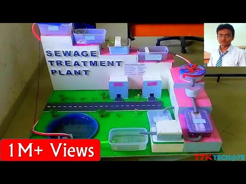 Sewage Treatment Plant For Amethi City (Model)(In Hindi)