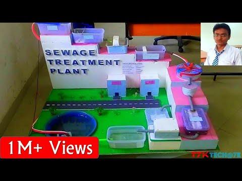 Sewage Treatment Plant For Amethi City (Model)(In Hindi)