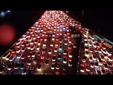 Traffic jams nationwide: Before China's National Day holiday