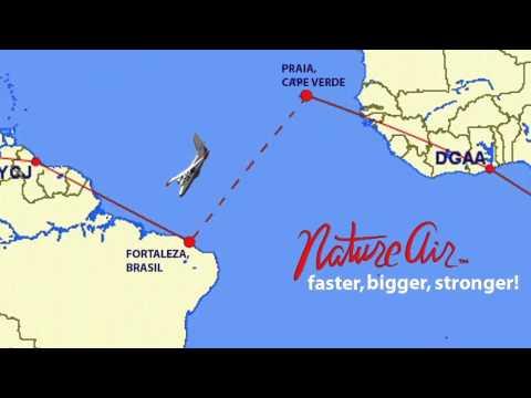 From Praia, Cape Verde to Fortaleza, Brazil