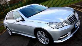 2011 mercedes e class e350 cdi blueefficiency sport ed125 auto sat nav special edition ultimate