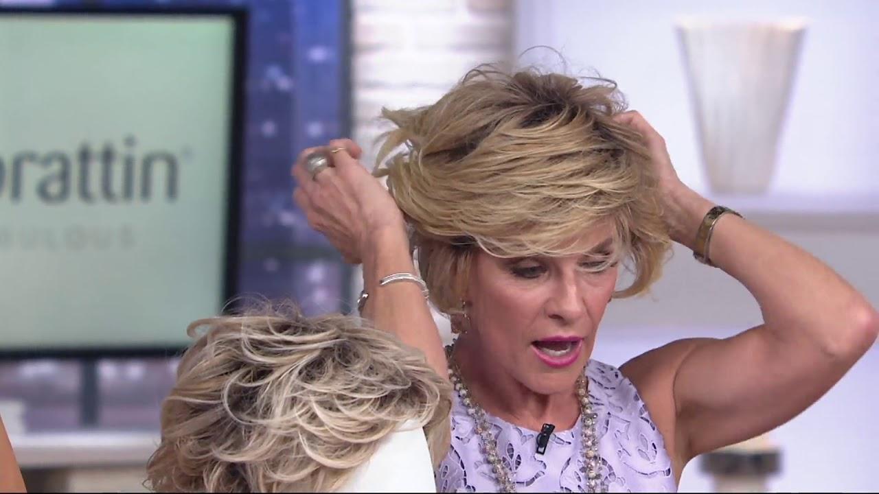 Toni Brattin Salon Select Textured Cut Wig On Qvc Youtube