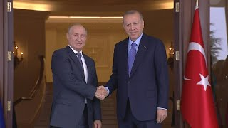 Turkish President Erdogan welcomes Putin for Syria summit | AFP