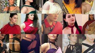 Shagun blouse Designs in Ye hai Mohabbatein  Anita Hasnandani Designer Sarees and Blouses in YHM
