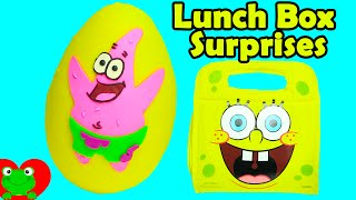 SpongeBob Lunch Box Surprises Patrick Play Doh Surprise Egg