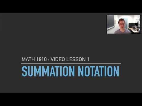 VL1 : Summation Notation