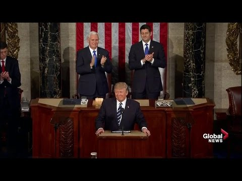 U.S. President Donald Trump full speech to Congress