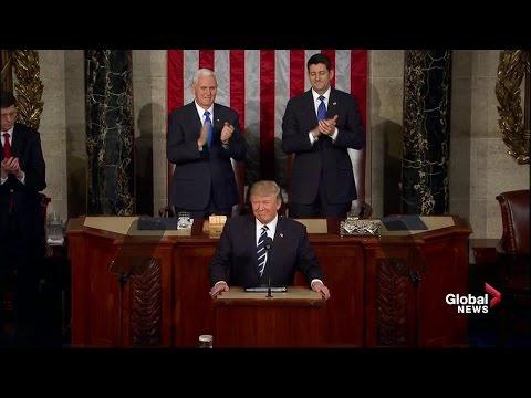 U.S. President Donald Trump first address to Congress