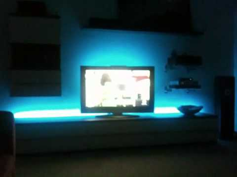 lowboard mit led beleuchtung youtube. Black Bedroom Furniture Sets. Home Design Ideas