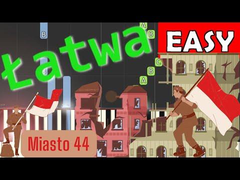 🎹 Miasto (Iwanek, Sokół, Cugowski) - Piano Tutorial (łatwa wersja) 🎹